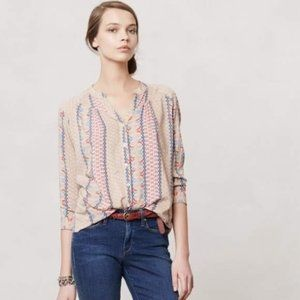 Anthro + Maeve Sunset District Button Down Small